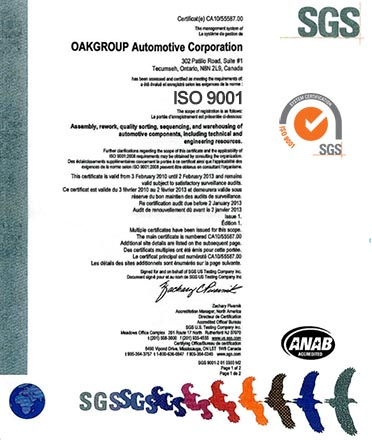 Oakgroup Oakgroup ISO Document
